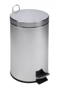 T101120 Polished Stainless Steel Pedal Bin 12 liters (multiple 4 pcs)
