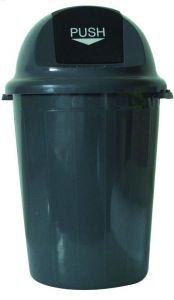 T102011 Gettacarte Push plastica grigio 80 litri (multipli 4 pz)