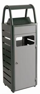 T103010 Gettacarte con posacenere grigio per esterni 25+4 litri