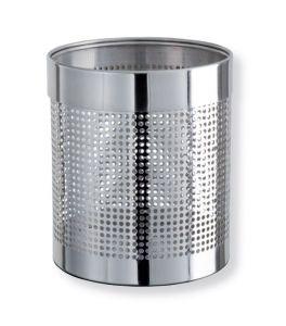 T103036 Gettacarte acciaio inox brillante perforato 11 litri