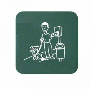 T103078 Pannello segnaletico per distributore sacchetti per cani