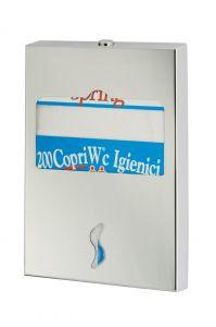 T105050 Distributore di carta copriwater inox AISI 304 brillante