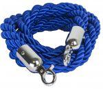 T106320 Cordone blu gancio acciaio inox per sistema divisorio 1,5 metri