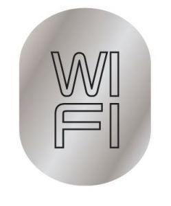 T719959 Targhetta alluminio WI FI