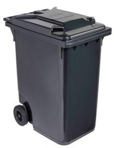 T766630 Contenitore rifiuti da esterno 2 ruote 360 litri GRIGIO