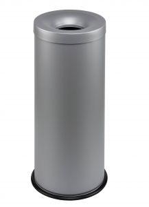 T770032 Gettacarte antifuoco metallo grigio 30 litri
