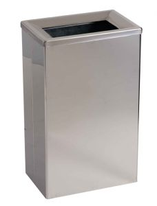 T773001 Gettacarte bagno acciaio inox brillante con secchio interno 25 litri