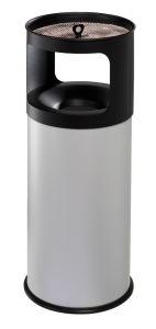 T775052 Portacenere-gettacarte 50 litri ANTIFUOCO metallo grigio con sabbia