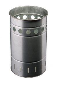 T778030 Gettacarte in acciaio zincato 35 litri da esterno