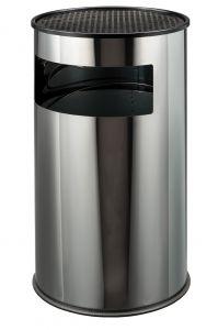 T790610 Portacenere-gettacarte acciaio inox grande 50 litri