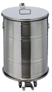 T790631 Contenitore mobile acciaio inox AISI 304 a pedale a tenuta stagna 70 litri