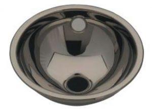 LX1060 Lavabo sferico in acciaio inox scarico centrale 360X390X150 mm - LUCIDO -
