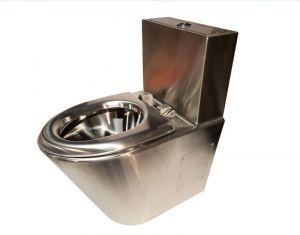 LX3760 WC Professionale satinato monoblocco con cassettiera 2 tasti con seduta inox