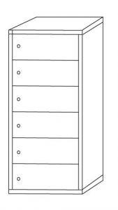 IN-Z.695.06 Armadio Portaoggetti Multivano zinco plastificato a 6 posti - dim. 45x40x180 H