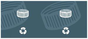 T774512 Etichetta autoadesiva per la raccolta di TAPPI DI PLASTICA