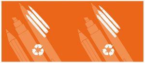 T774513 Etichetta autoadesiva per la raccolta di STRUMENTI DI SCRITTURA