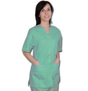 GI-21116 - CASACCA CON AUTOMATICI - donna XXL - verde