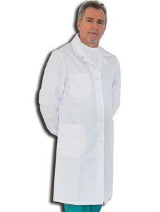 GI-21424 - CAMICE BIANCO CON AUTOMATICI - cotone/poliestere - unisex - taglia L