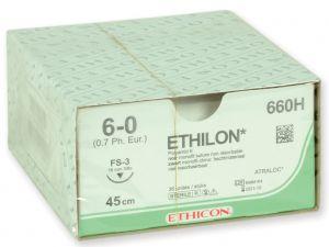 GI-22300 - SUTURA MONOFILAMENTO ETHICON ETHILON - 6/0 ago 16 mm