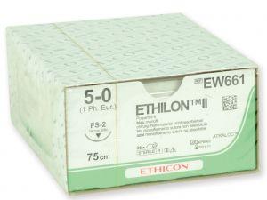 GI-22305 - SUTURA MONOFILAMENTO ETHICON ETHILON - 5/0 ago 19 mm