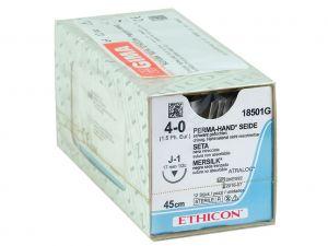 GI-22310 - SUTURA SETA ETHICON PERMA-HAND - 4/0 ago 17 mm