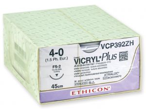 GI-22360 - SUTURA ASSORBIBILE ETHICON VICRYL PLUS - 4/0 ago 19 mm