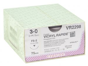 GI-22375 - SUTURA ASSORBIBILE ETHICON VICRYL RAPID - 3/0 ago 14 mm