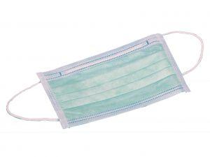 GI-25650 - MASCHERINA 3 VELI - verde con elastici - 95%