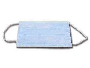 GI-25658 - MASCHERINA 3 VELI - azzurra con elastici - 99%