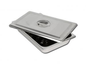 GI-26607 - VASSOIO+COPERCHIO INOX 306x196x50 mm