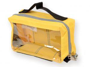 GI-27182 - BORSETTA E1 - rettangolare con finestra - gialla